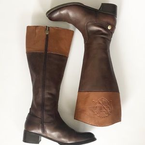 Franco Sarto two toned brown riding boots sz8